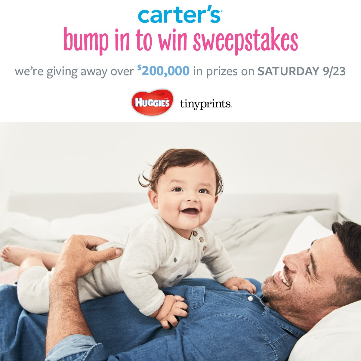 Carter's Bump In to Win Sweepstakes - Carter's Bump In to Win Sweepstakes - Don't forget to Bump In to Win It on Saturday, September 23rd - Baby Clothes and Items perfect for Baby Shower Gifts, Birthday Gifts, and Christmas Gifts